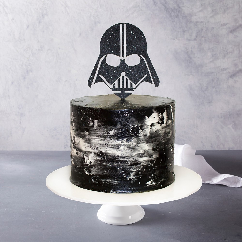 Darth Vader Birthday Cake Darth Vader Topped Birthday Cake