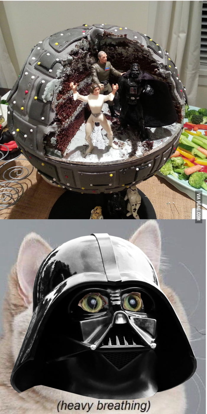 Darth Vader Birthday Cake Darth Vaders Birthday Cake 9gag