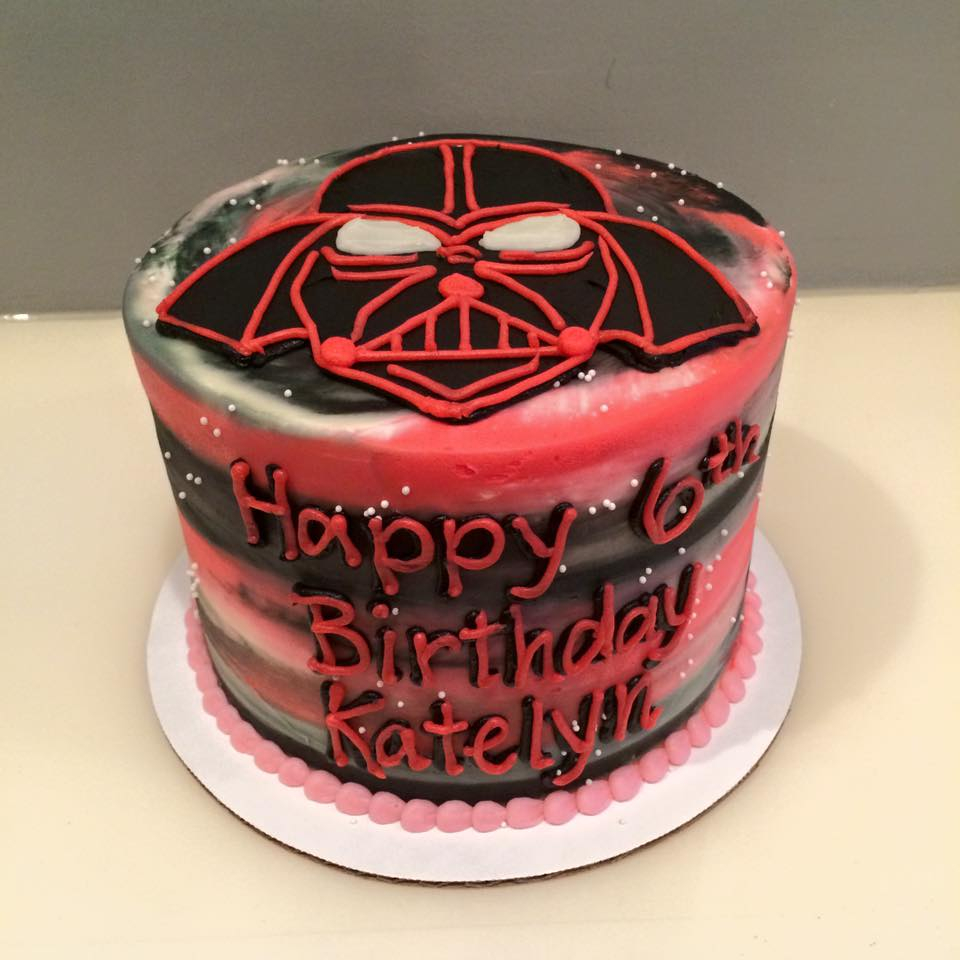 Darth Vader Birthday Cake Pink Galaxy Darth Vader Cake Hayley Cakes And Cookieshayley Cakes