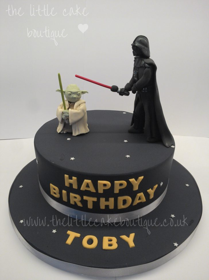 Darth Vader Birthday Cake Star Wars Birthday Cake With Darth Vader And Yoda Yes I Know