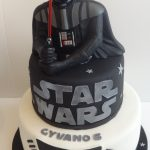 Darth Vader Birthday Cake Star Wars Cake For Gyvano Darth Vader Birthdays Pinterest
