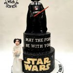 Darth Vader Birthday Cake Star Wars Cake Princess Leah Darth Vader The Cake Witch My