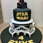 Darth Vader Birthday Cake Star Wars Darth Vader Stormtrooper Birthday Cake Lanes 6th