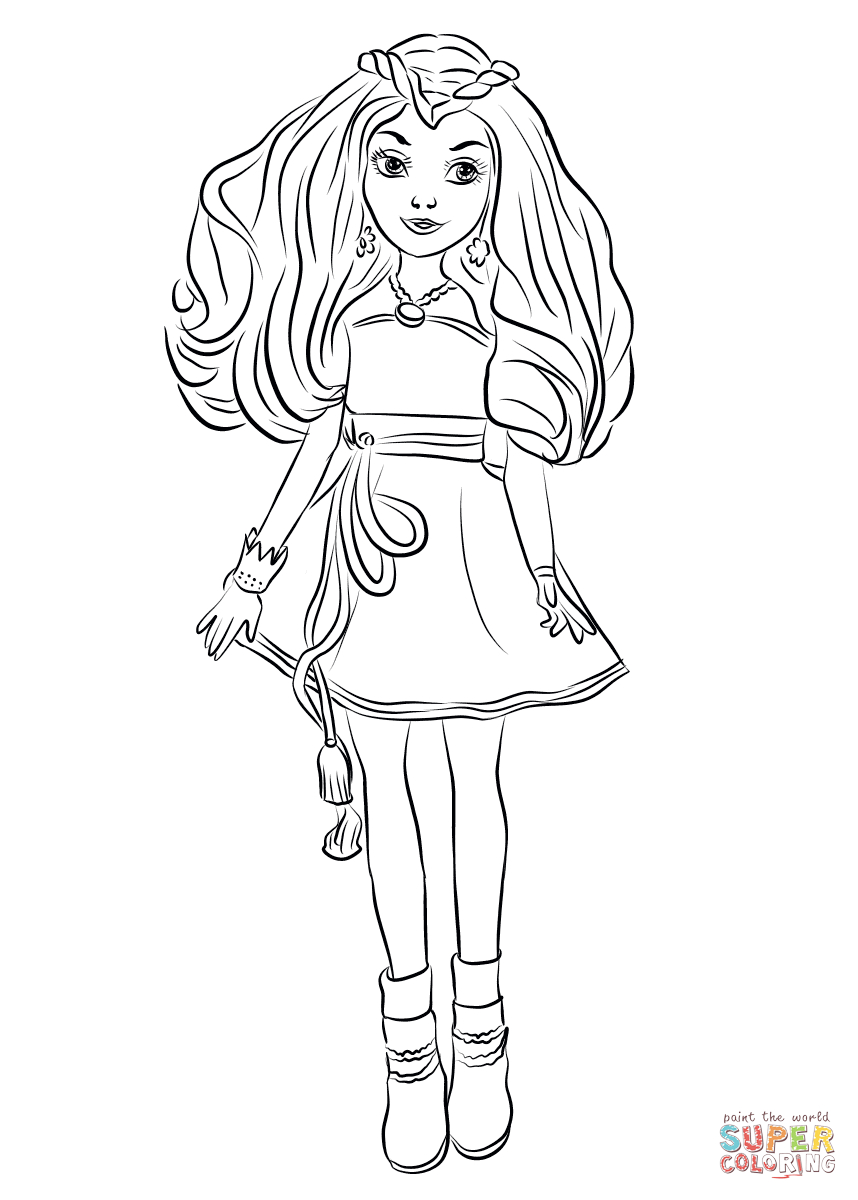 Descendants Coloring Pages Descendants Coloring Pages Evie From Wicked World Page Free
