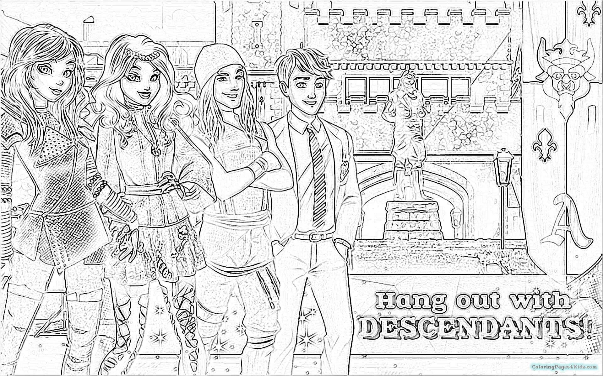 Descendants Coloring Pages Disney Descendants Coloring Pages Free Best Of Ben And Mal Page New