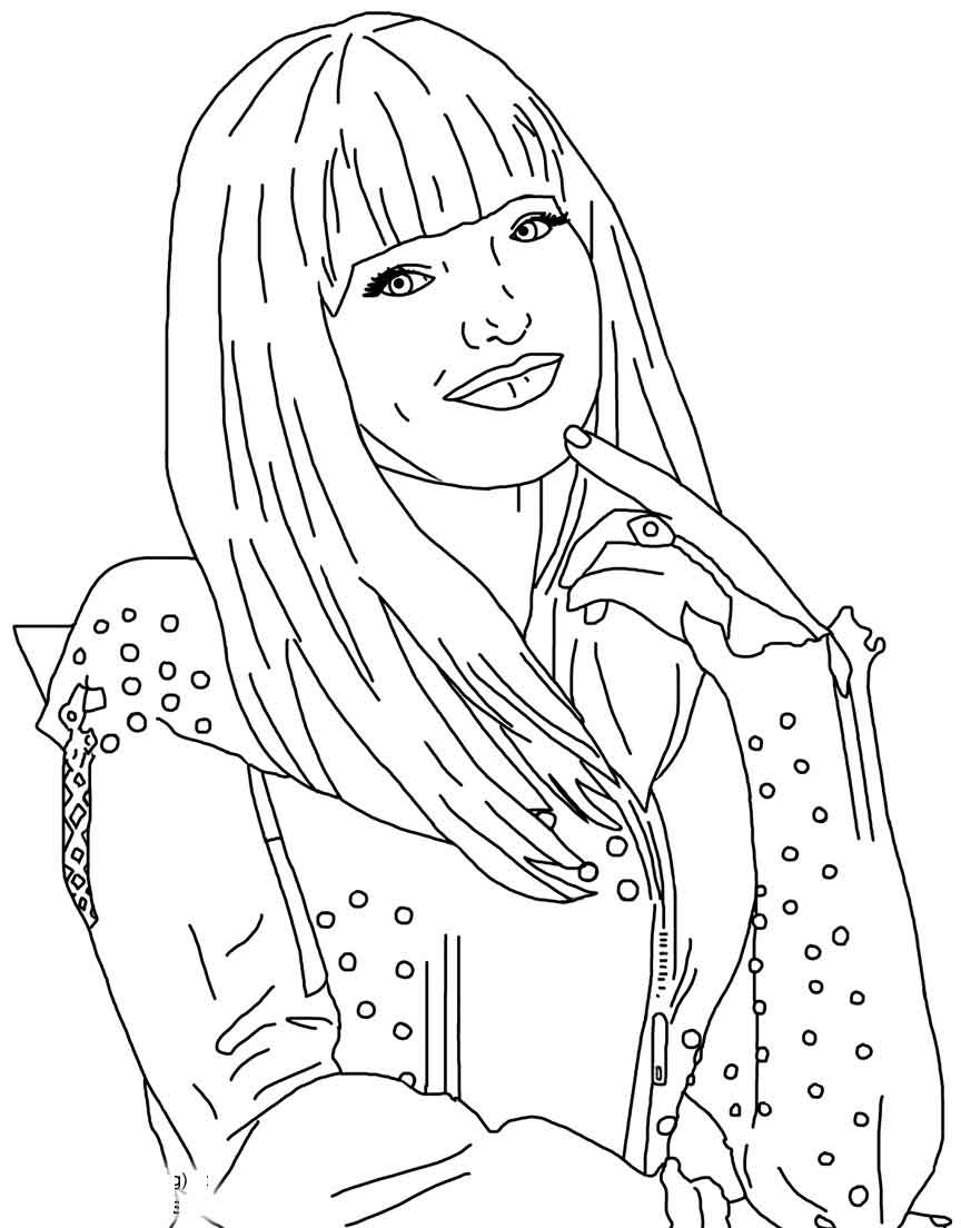 Descendants Coloring Pages Mal From Descendants Coloring Pages Free Printable Descendants 2