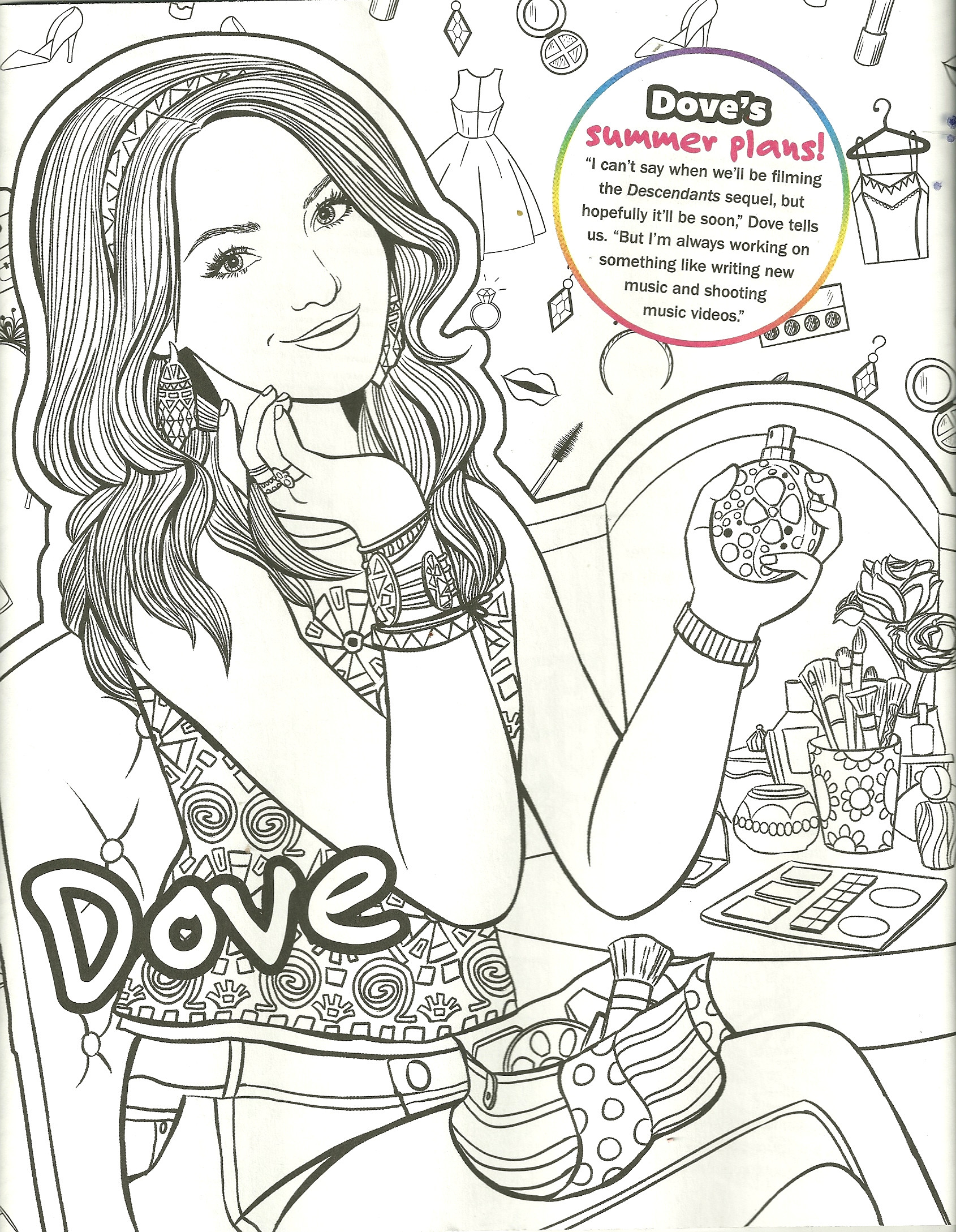 Descendants Coloring Pages Stunningsney Descendants Coloring Pages Printable Evie Stunning