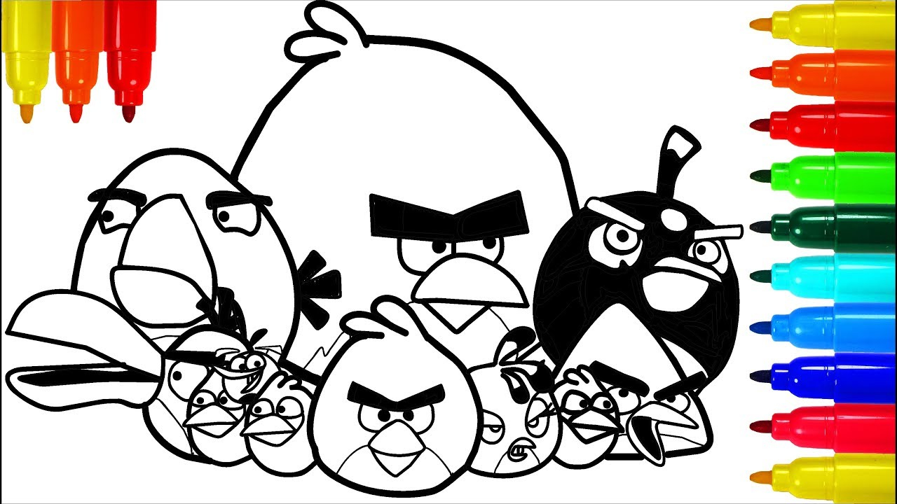 Angry Birds Coloring Page - childrencoloring.us