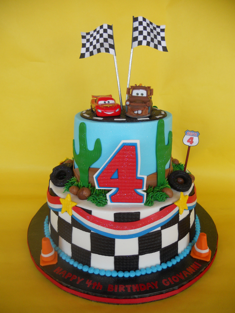 Disney Cars Birthday Cake Disney Cars 4th Birthday Cake Amy Stella Flickr