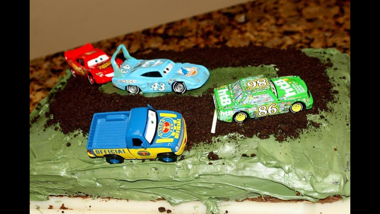 Disney Cars Birthday Cake Disney Cars Birthday Cake Piston Cup Tiebreaker Race For A Toddler