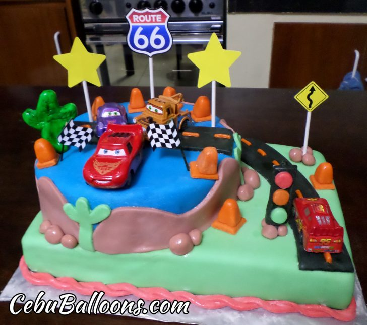 Disney Cars Birthday Cake Disney Cars Theme Birthday Cake Cebu Balloons And Party Supplies