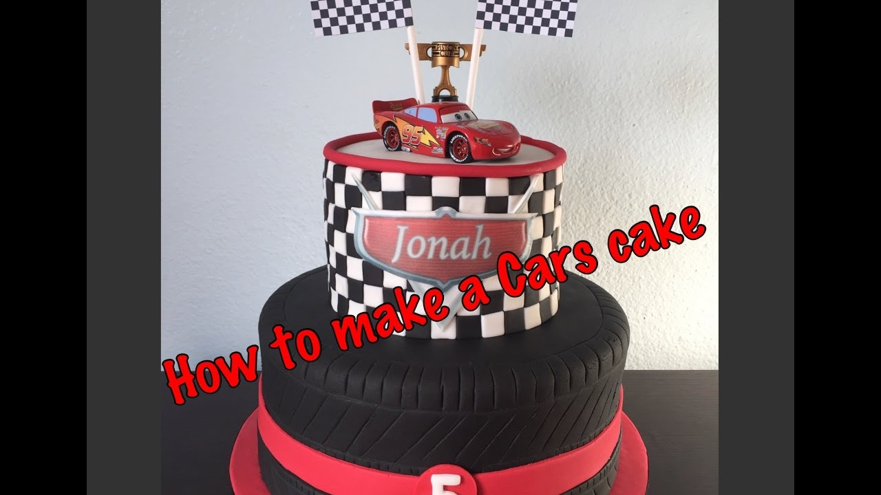 Disney Cars Birthday Cake Diy Disney Cars Cake Youtube