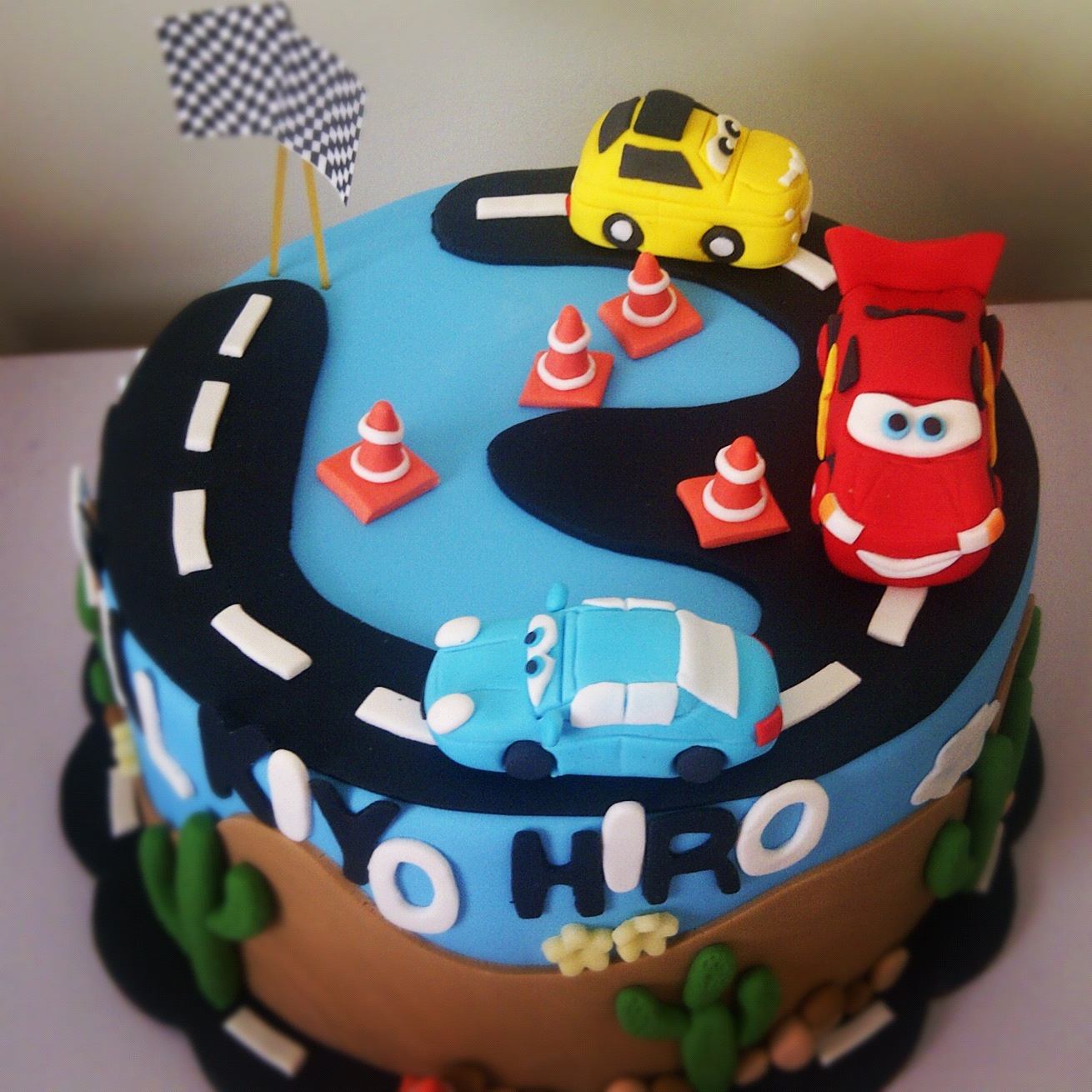 Disney Cars Birthday Cake Heavenly Dlights Disney Cars Birthday Cake