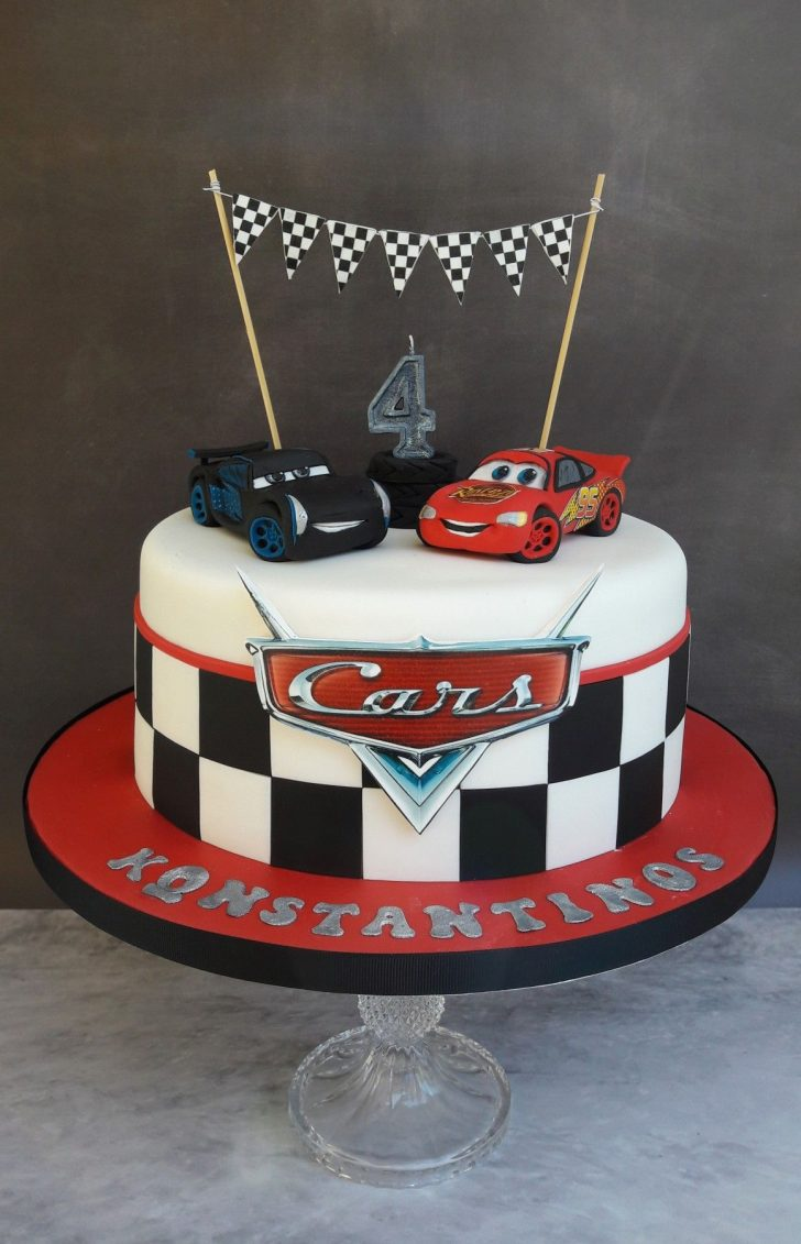 Disney Cars Birthday Cake Jackson Storm And Lightning Mcqueen Cars Cake My Cakescookies