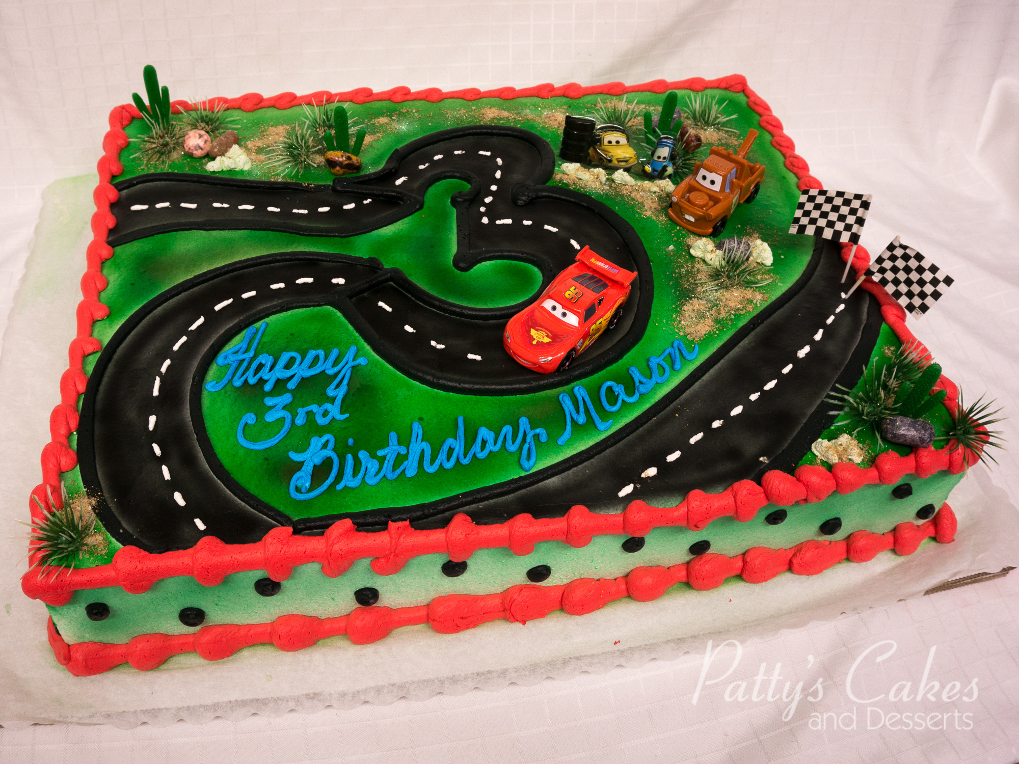 Disney Cars Birthday Cake Photo Of A Disney Cars Birthday Cake Pattys Cakes And Desserts