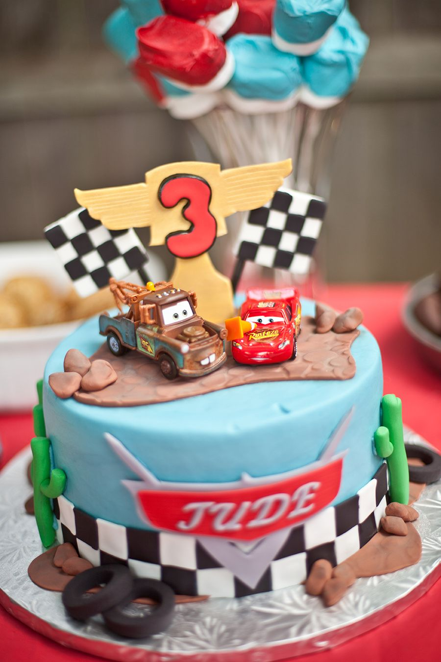 Disney Cars Birthday Cake We Heart Parties Cars Themed 3rd Birthday Partypartyimageid