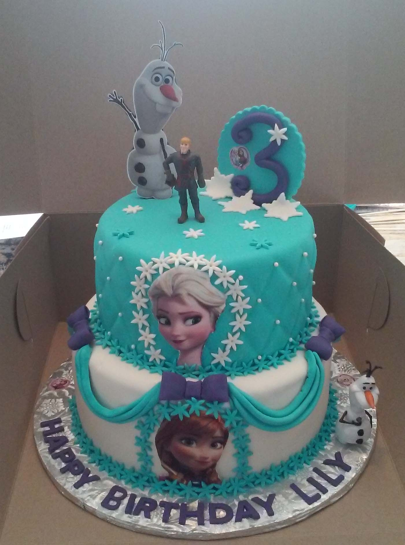 Disney Frozen Birthday Cakes 2 Tier Elsa And Anna Frozen Themed ...