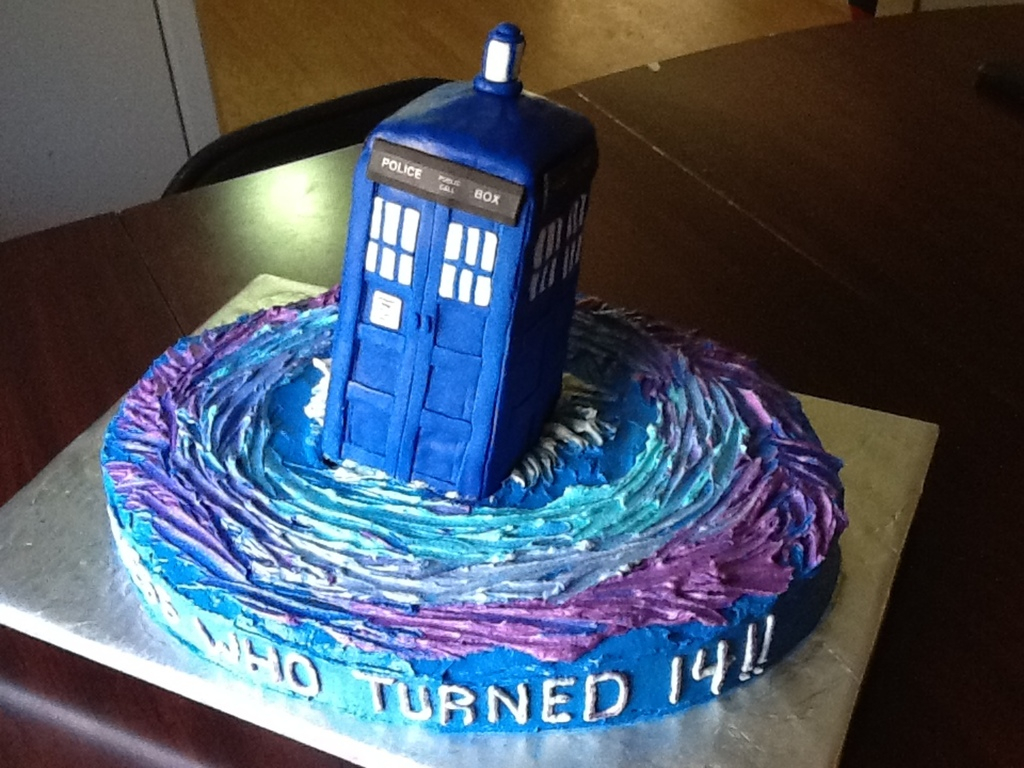 Doctor Who Birthday Cake Birthday Cake For Dr Who Fan Tardis Made Of Rice Krispies And