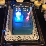 Doctor Who Birthday Cake Doctor Who Tardis Cake With Candles