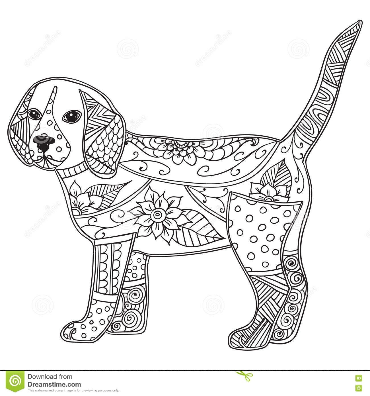 Dog Coloring Pages For Adults Adult Dog Coloring Pages Collection 7 Q Antistress Or Children Page