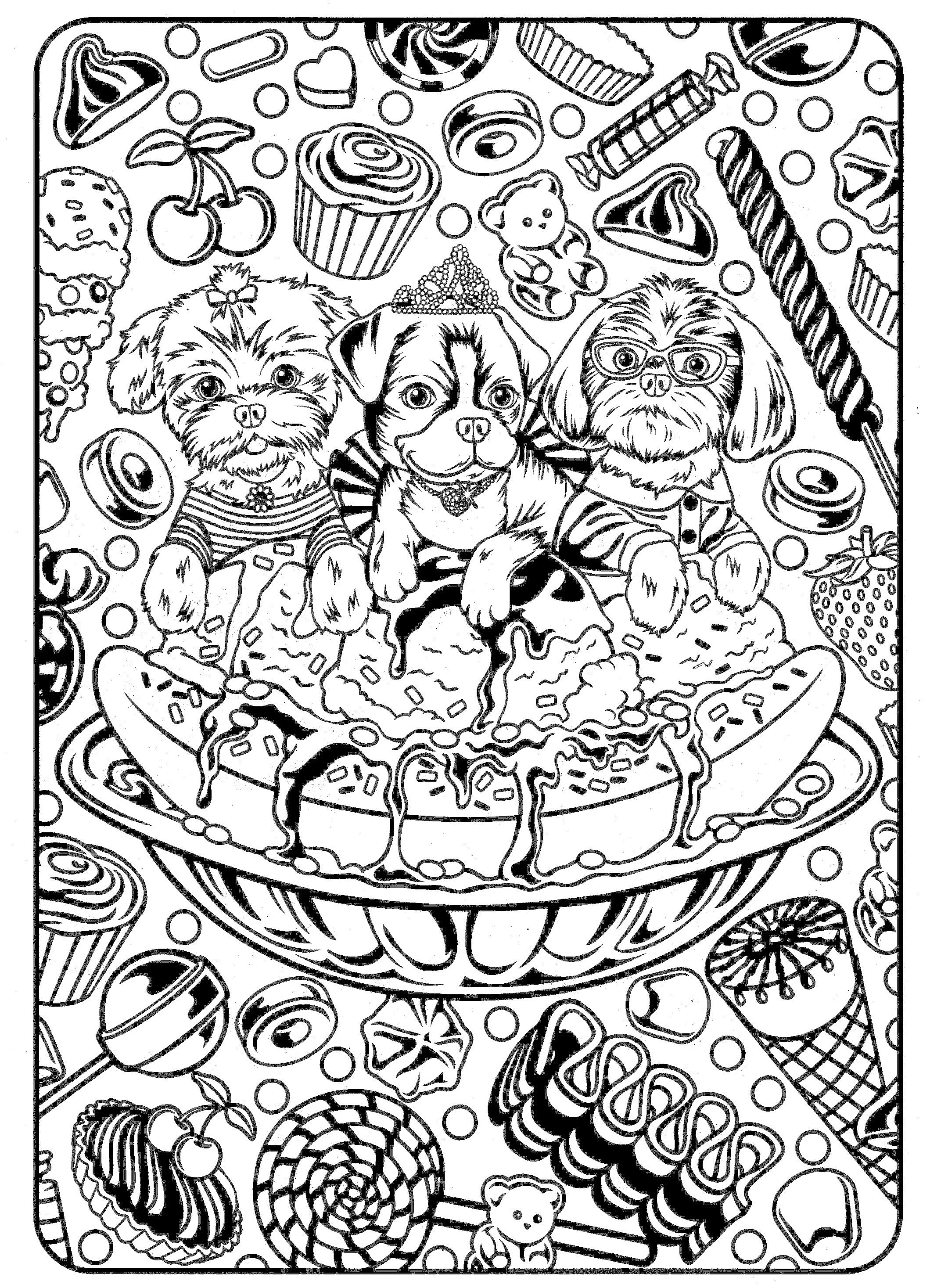 Dog Coloring Pages For Adults Coloring Pages For Adults Dogs At Getdrawings Free For