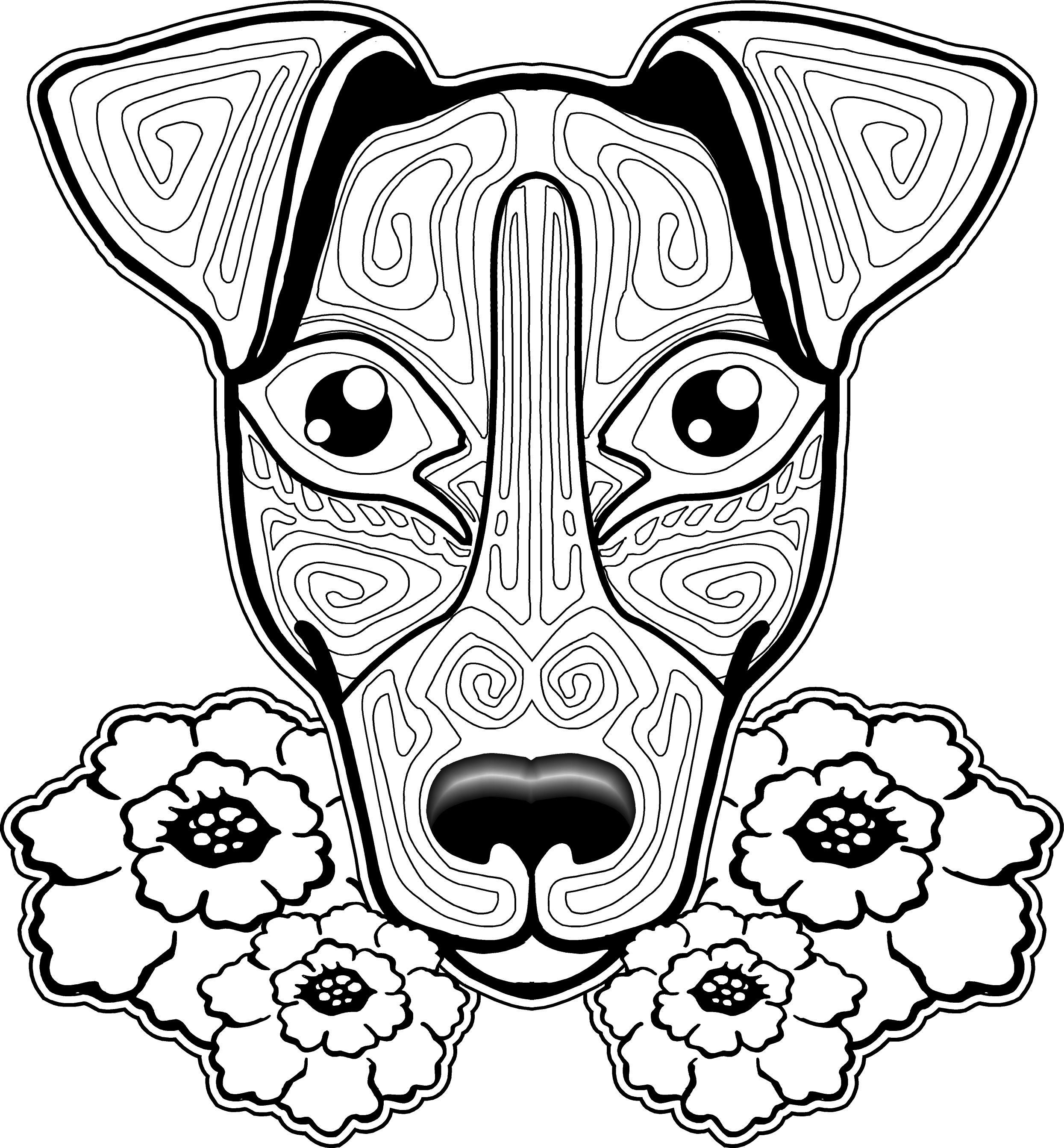 Dog Coloring Pages For Adults Dog Coloring Pages Adults At Getdrawings Free For Personal Use