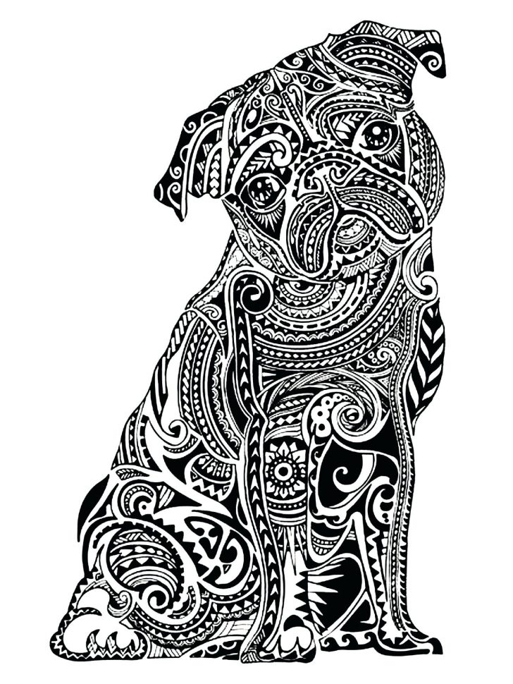 Dog Coloring Pages For Adults Dog Coloring Pages For Adults Announcing Realistic Dog Coloring