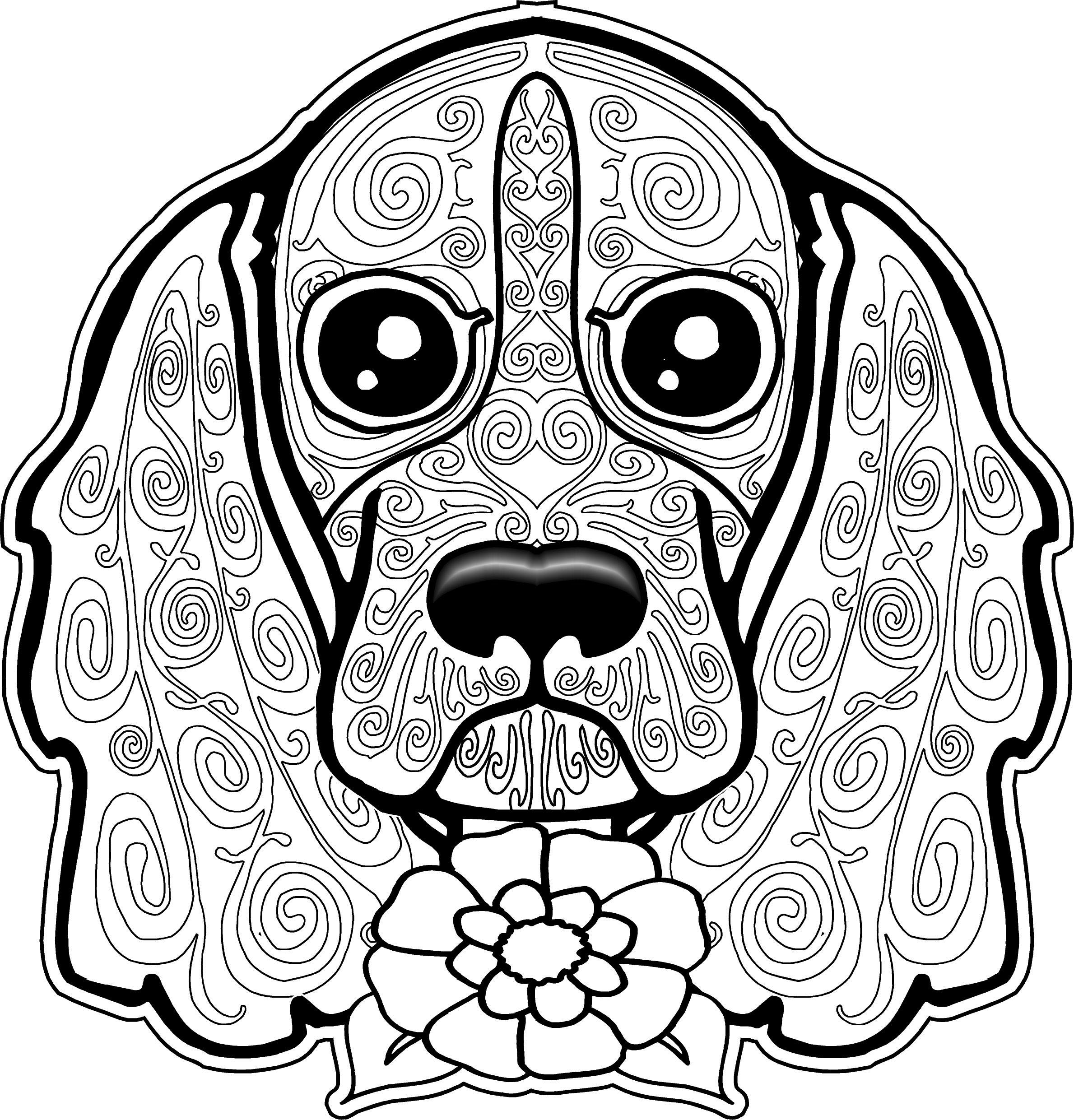 Dog Coloring Pages For Adults Dog Coloring Pages For Adults Inspirationa Adult Dogs Inside