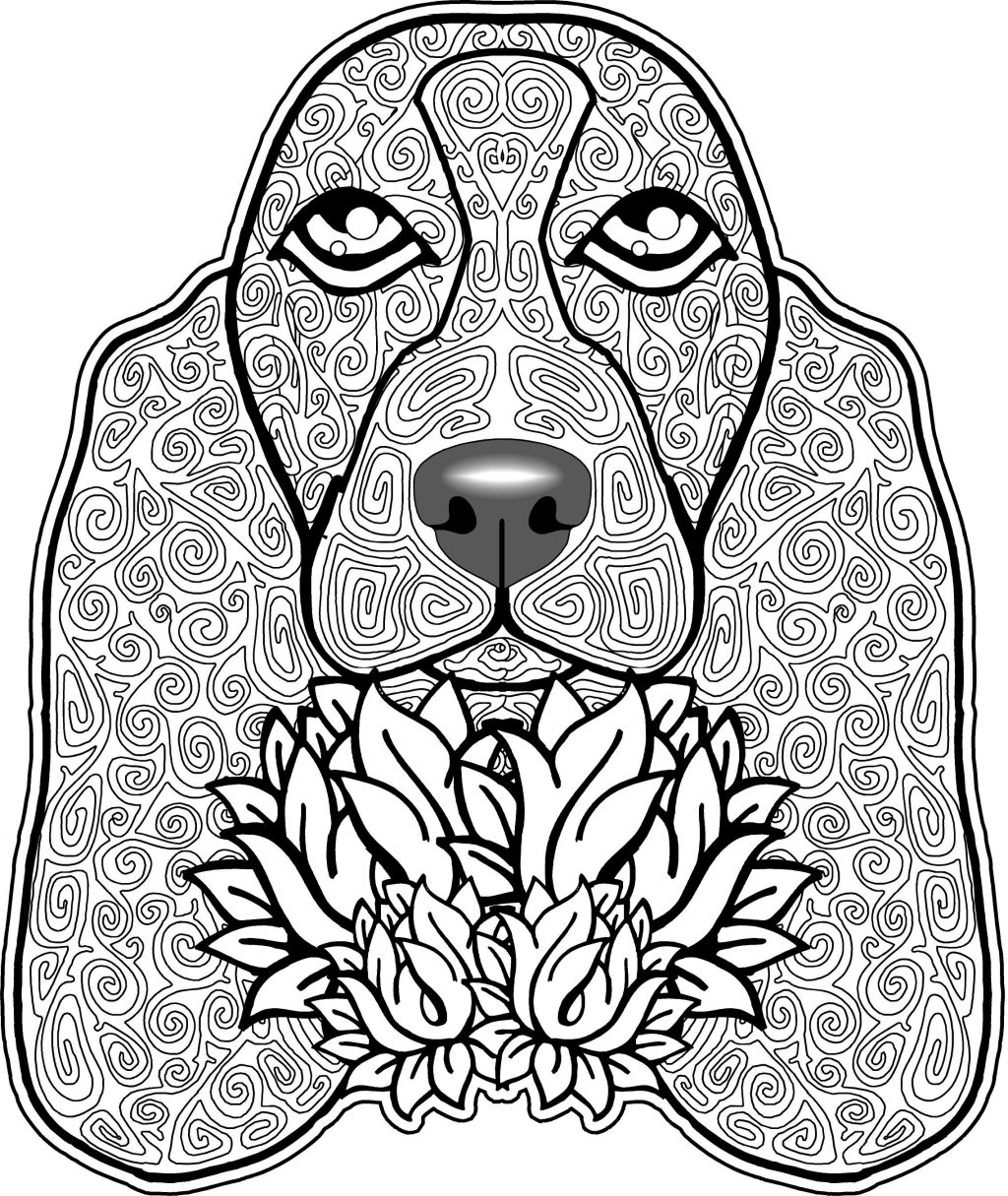 Dog Coloring Pages For Adults Dog Coloring Pages Letter D Is For Book Colouring Adults Hard Cute