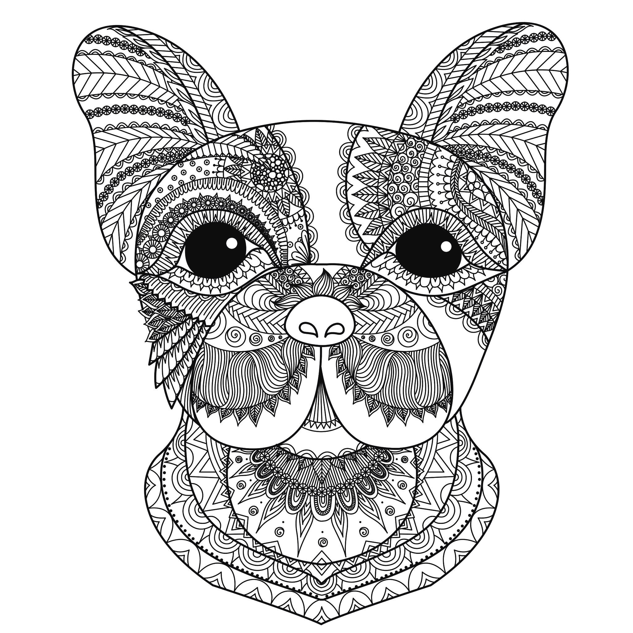 Dog Coloring Pages For Adults Dog Head Bimdeedee Dogs Adult Coloring Pages