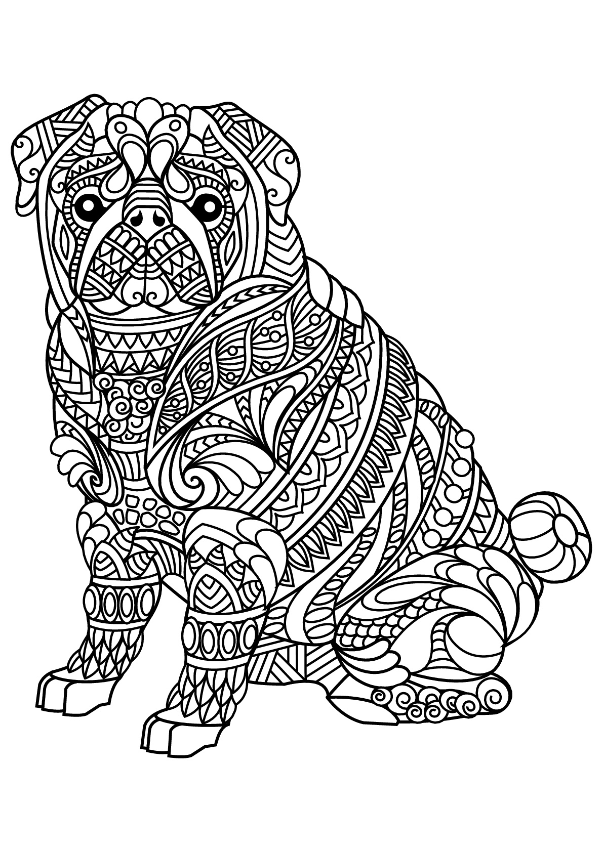 27+ Wonderful Image of Dog Coloring Pages For Adults