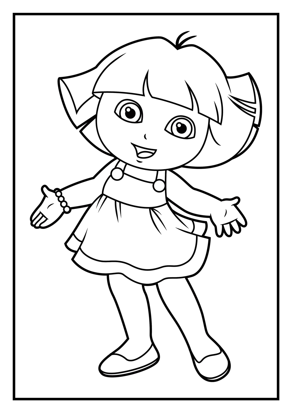 Dora Coloring Page Dora Coloring Pages Diego Coloring Pages ...