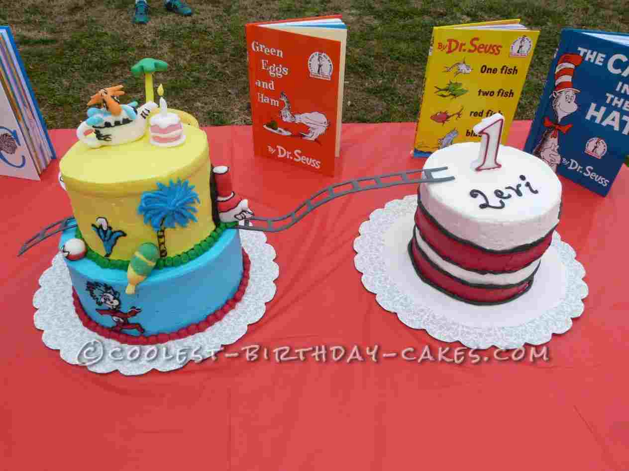 Dr Seuss Birthday Cakes Cake Sweetdelights Aia Customs Rhpinterestcom Themed Party From