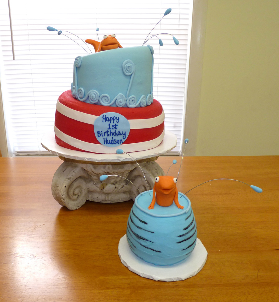 Dr Seuss Birthday Cakes Dr Seuss 1st Birthday Cake Cakecentral