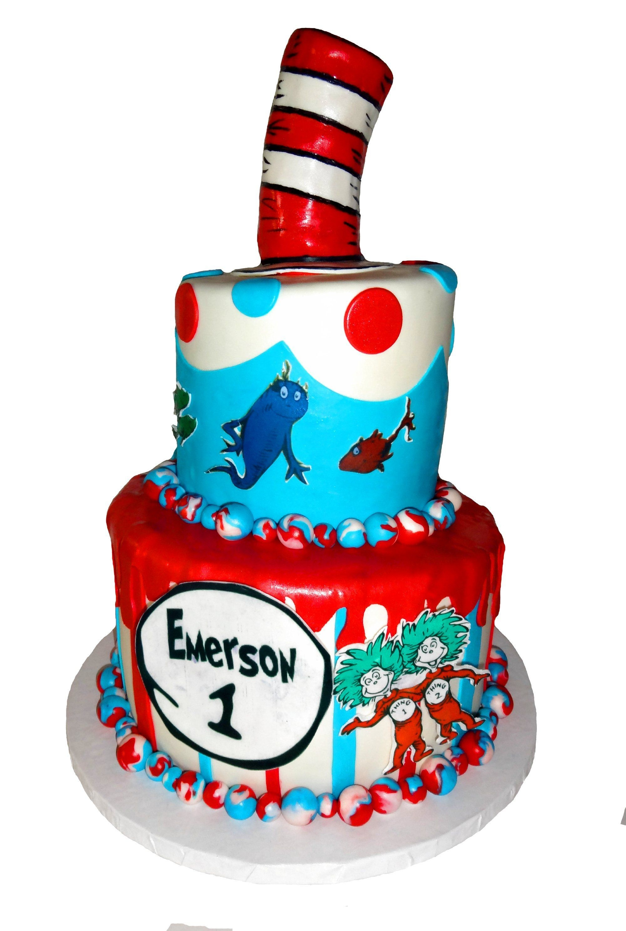 Dr Seuss Birthday Cakes Dr Seuss 1st Birthday Cake Plus Smash Cake Cakecentral