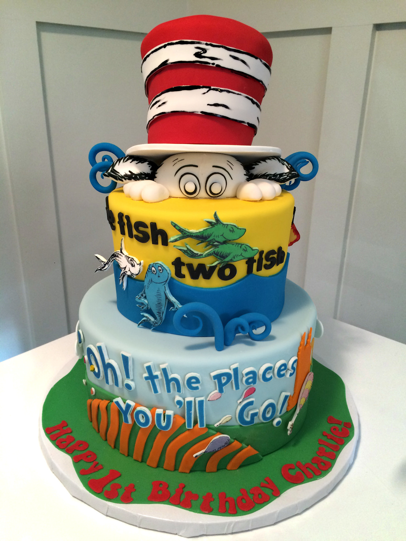 Dr Seuss Birthday Cakes Dr Seuss Birthday Cake Cakesuite Serving Connecticut And New York