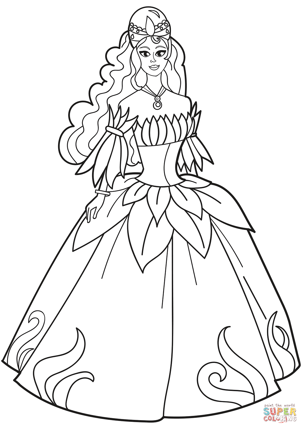 25+ Creative Picture of Dress Coloring Pages