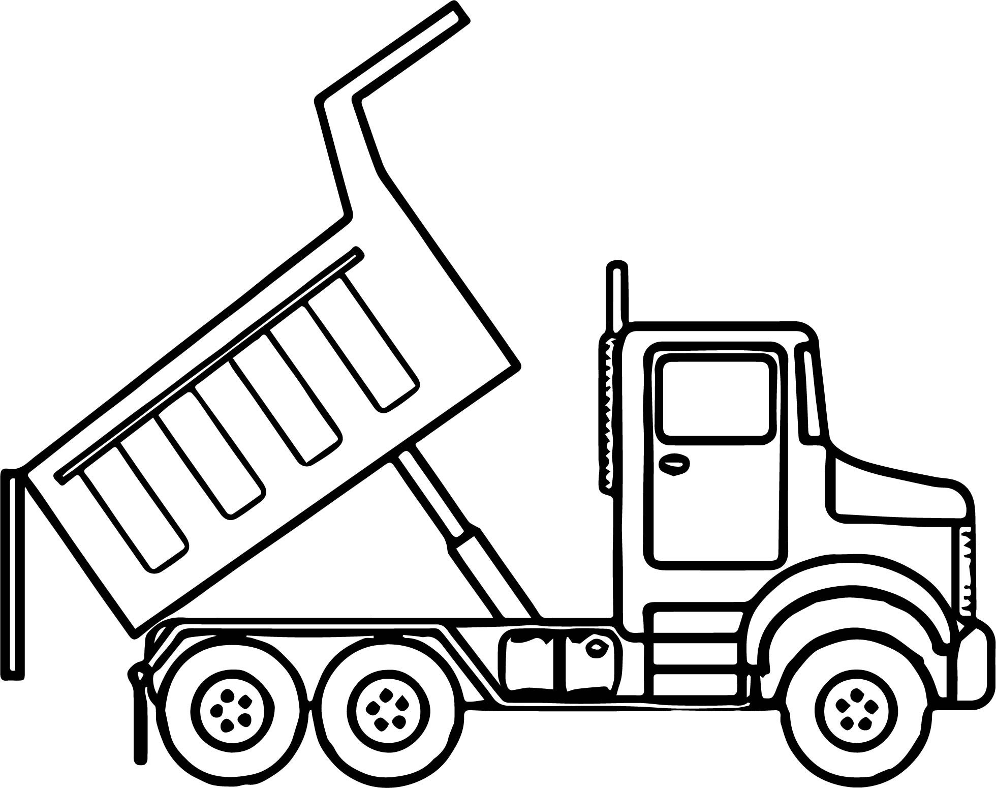 25+ Inspiration Image of Dump Truck Coloring Pages