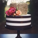 Elegant Birthday Cakes Black White And Gold Cakes Google Search Party Pinte