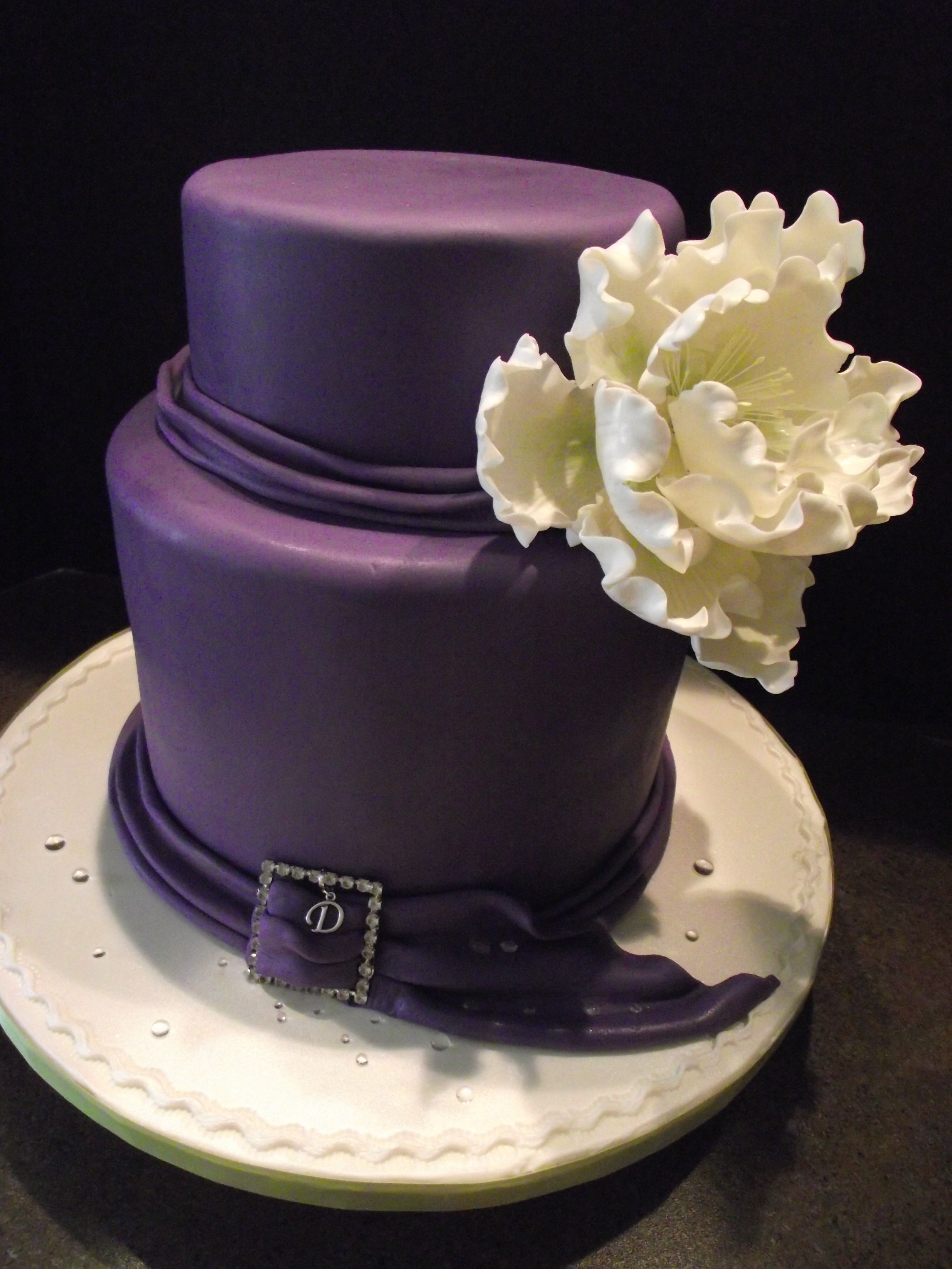 Elegant Birthday Cakes Elegant 40th Birthday Cake And Could See This For A Small Wedding