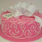 Elegant Birthday Cakes Elegant Pink Birthday Cake 625 Wwwasweetdesign Flickr