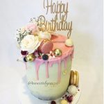 Elegant Birthday Cakes Pink Drip Rustic Birthday Cake Made Sweetssuzie Adults And
