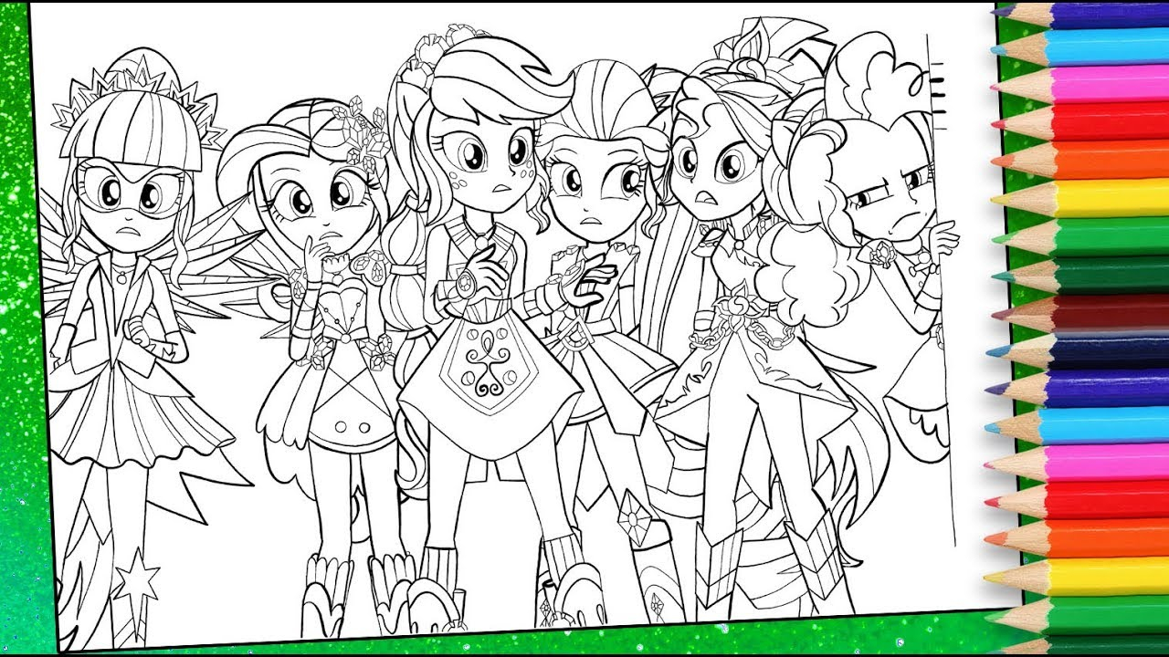 25+ Excellent Picture of Equestria Girls Coloring Pages