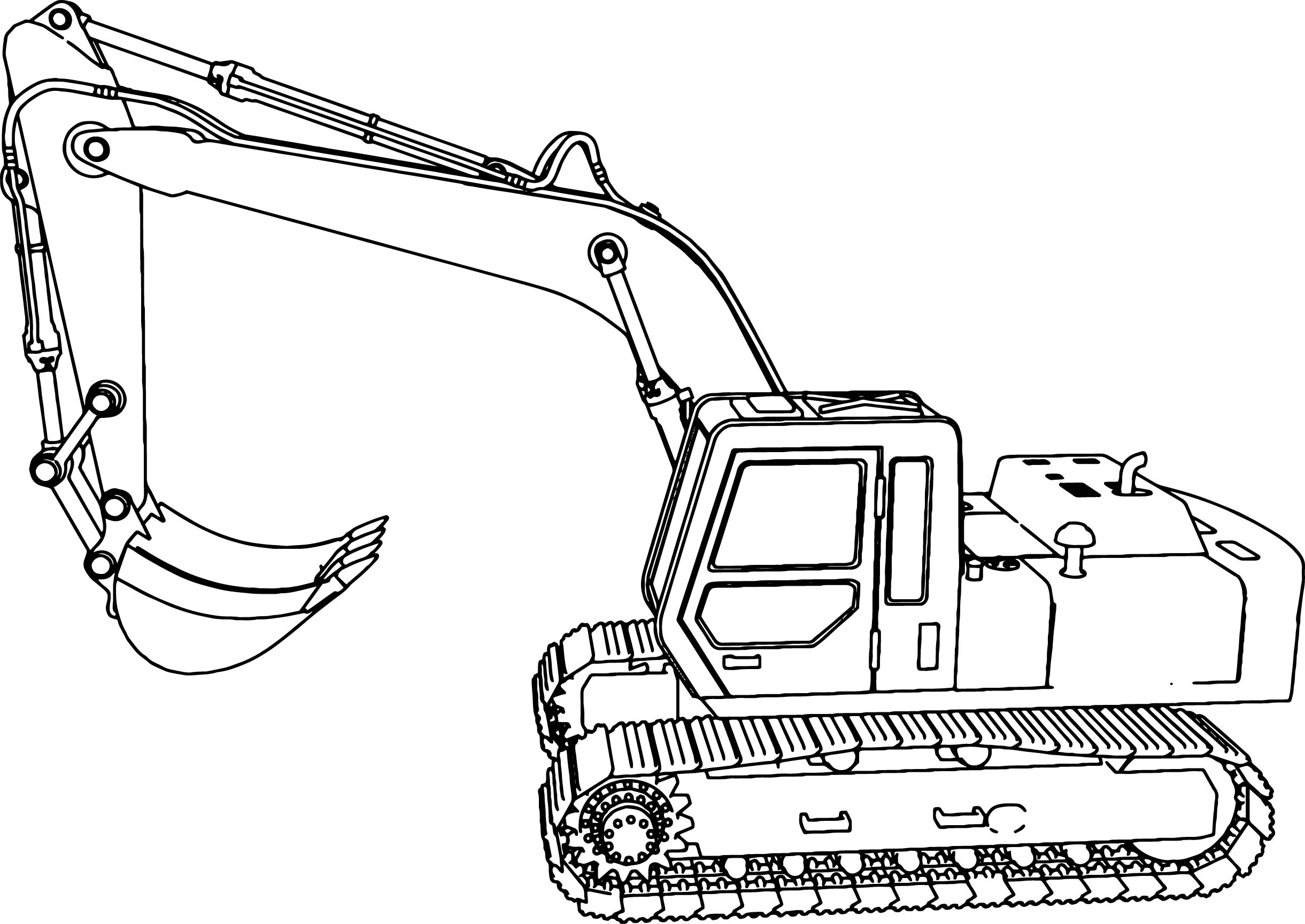Inspired Picture of Excavator Coloring Page