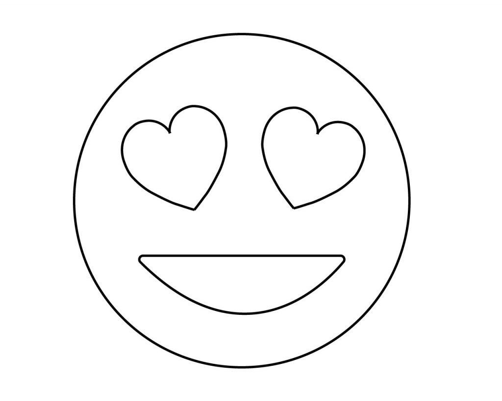Eye Coloring Page Coloring Pages Heart Eyes Emoji Coloring Pages 1024x819 Incredible