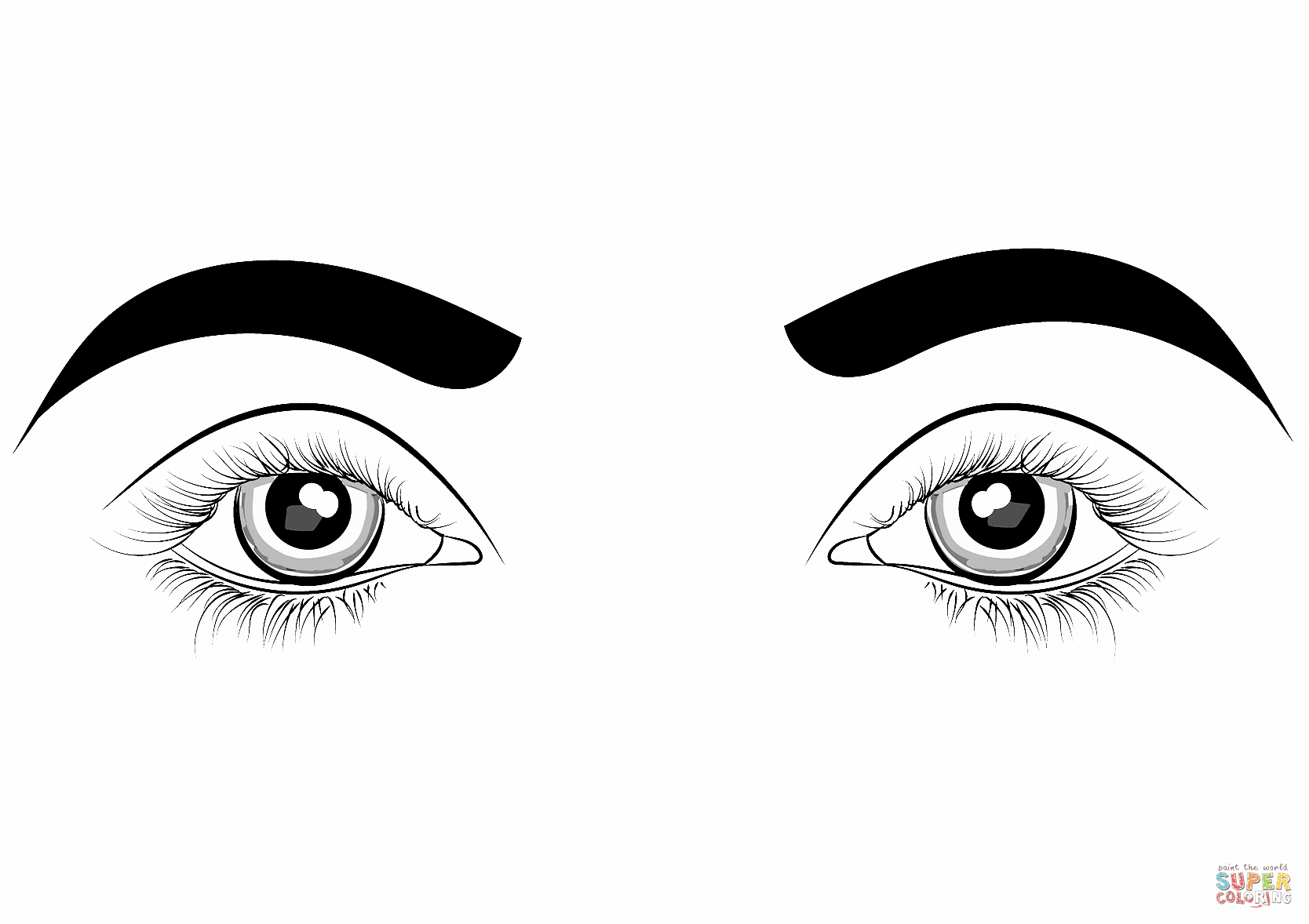 25+ Inspired Photo of Eye Coloring Page