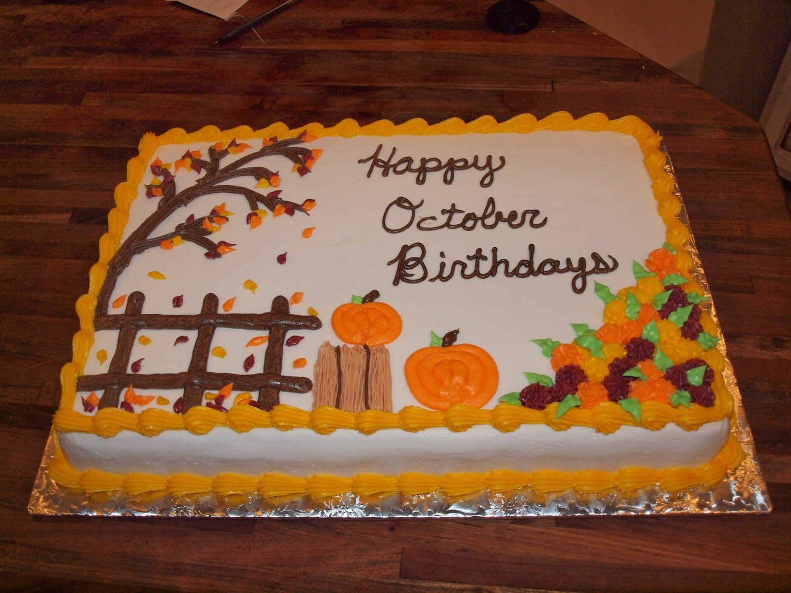 27+ Great Image of Fall Birthday Cakes