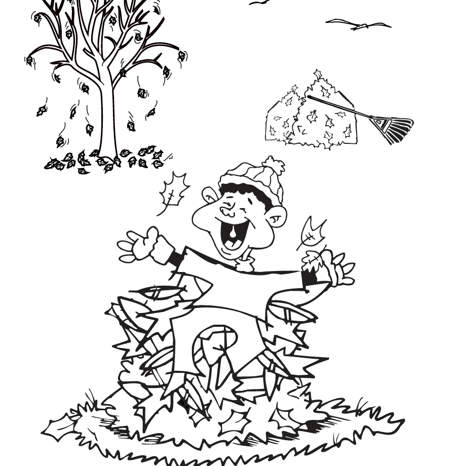 Fall Coloring Page Free Autumn And Fall Coloring Pages