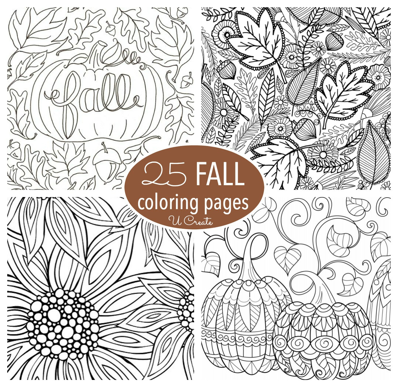 Fall Coloring Page Free Fall Adult Coloring Pages U Create