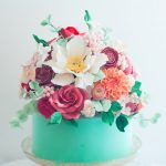 Fancy Birthday Cakes Aqua Floral Cake Lulus Sweet Secrets Cake Pinterest Cake